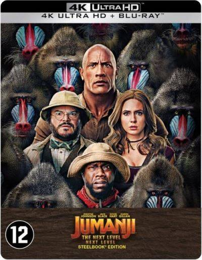 JUMANJI: THE NEXT LEVEL-BIL-BLURAY 4K STEELBOOK - Blu-ray 4K