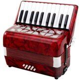 Classic Cantabile 00031496 Secono Accordéon pour Enfant 8 basses Rouge - Instruments de musiques