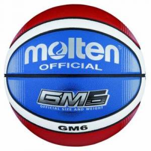 Molten BGMX6-C Ballon de basket Rouge/blanc/bleu Taille 6 - Autre jeu de plein air