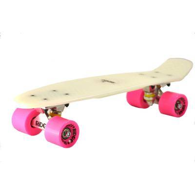 "RIDGE GLOW IN THE DARK Ridge Retro Style complètes Mini Cruiser Skateboard avec ABEC-7 roulements 22 ""x 6"" (55cm x 15cm) - Patinettes/Rollers"