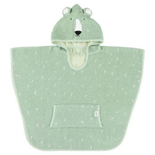 Trixie poncho Mr. Polar Bear64 x 47 cm coton biologique vert - Bavoirs