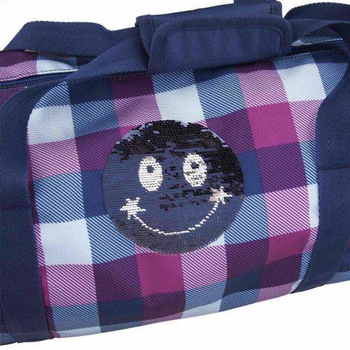 TOPModel Sportsbag Rev. Sequins Smiley Blue - Ménage nettoyage