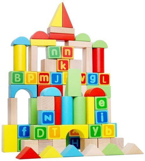 Non communiqué Tooky Toy jeu de cubes en bois junior 80 pièces - Autres jeux de construction