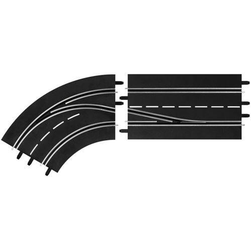 Carrera Numérique 124 hippodrome pli gauche AC intérieur / extérieur - Accessoires circuits et véhicules