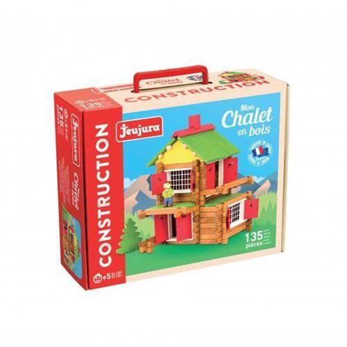 JEUJURA Mon chalet en bois - 135 pièces - Autres jouets en bois