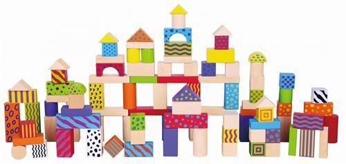 Vigatoys Viga Toys set de cubes coloré 100 pièces multicolore - Autres jeux de construction