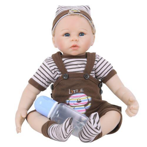 Noël Lifelike Réaliste Du Nouveau-Né Reborn Baby Doll en Silicone Vinyle pour Enfant en Bas Âge Multicolore WEN133 - Jouet multimédia
