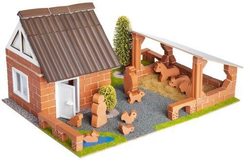 Teifoc kit de construction ferme avec figurines marron 180-pièces - Autres jeux de construction