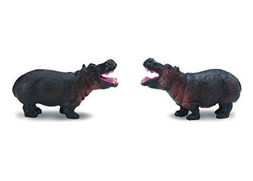 Safari Ltd. Bonne chance - Hippopotames - 192 pièces - Construction de qualité à partir de matériaux sans phtalates, sans plomb et sans BPA - Pour les 5 ans et plus - Autres figurines et répliques