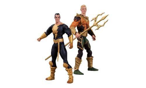 DC Direct Warner Bros. DC Comics Aquaman vs Black Adam - Aquaman vs. Black Adam - 10 cm - Autres figurines et répliques
