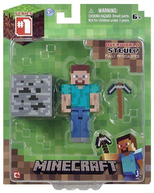 Minecraft 16501 - Figurine Articulée avec Accessoires Overworld Steve - Autres jeux de construction