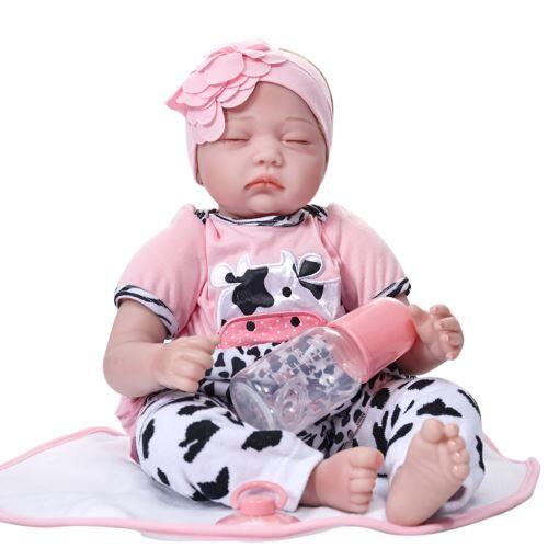 Lifelike 55Cm Réaliste de Couchage Du Nouveau-Né Vinyle Silicone Reborn Baby Doll BT006 - Poupée
