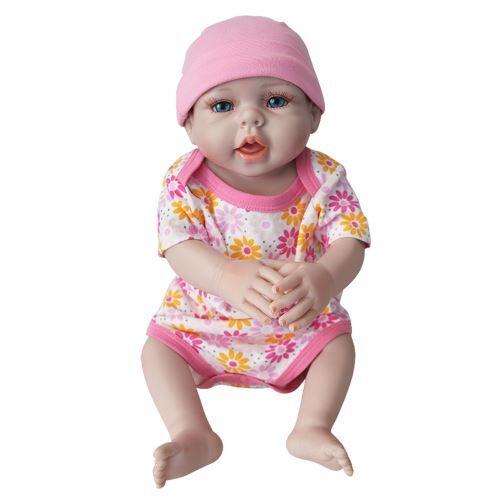 Lifelike Baby Doll Doll Nouveau-Reborn Enfants Fille Playmate Né D'Anniversaire Cadeau Rose WEN342 - Jouet multimédia