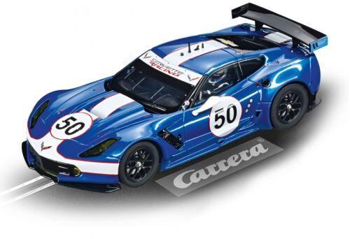Carrera Evolution voiture hippodrome Chevrolet Corvette C7.R bleu - Voiture