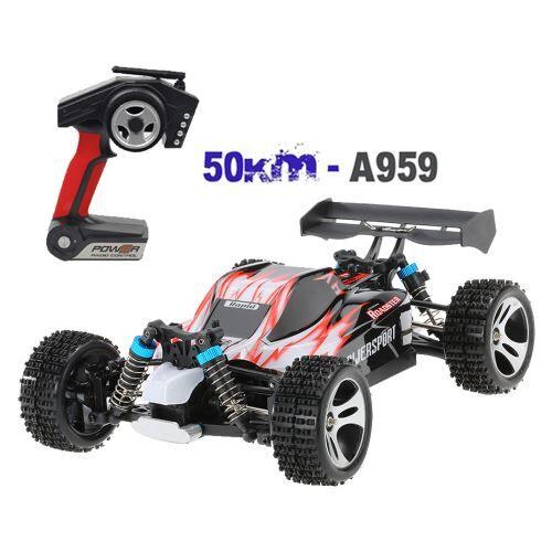 WLtoys 540 A959 amélioré Brosse moteur à haute vitesse 50 kmh 01h18 4D 2.4G RC voiture - Voiture