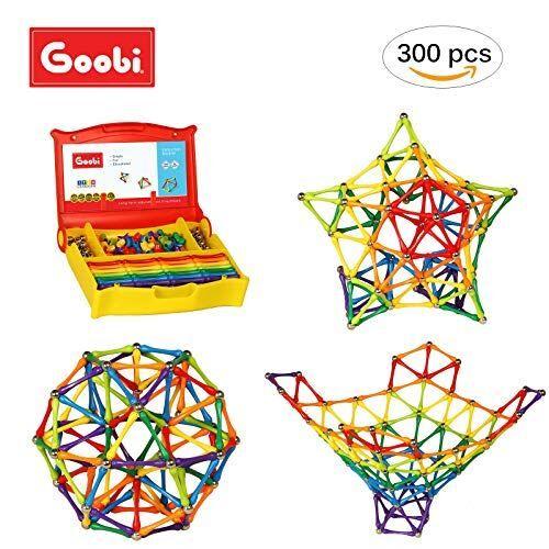 Non communiqué Ensemble de construction Goobi de 300 pièces avec livret d'instructions  Apprentissage STEM  Couleurs arc-en-ciel assorties - Autres jeux de construction