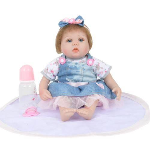 Réincarné Baby Doll Réaliste en Silicone Souple en Vinyle Poupées Nouveau-Né Bébé Poupées de Noël Multicolore PT223 - Jouet multimédia