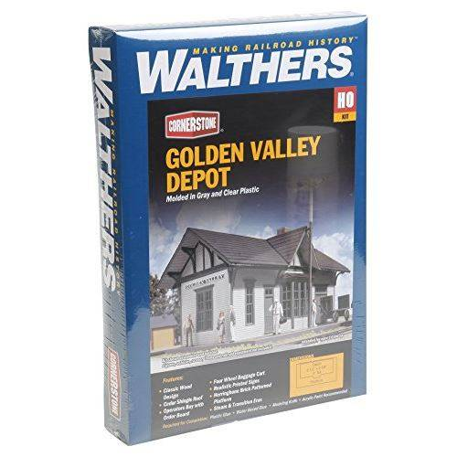 Walthers, Inc. Golden Valley Depot Kit, 6-12 X 3-38 X 4 16.2 X 8.4 x 10cm - Circuit et accessoires train en bois