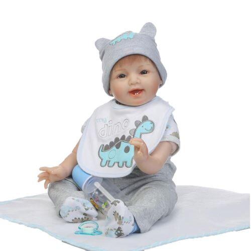 Reborn Doll 55Cm Nouveau-Né Enfants Fille Playmate Cadeau D'Anniversaire MK1866 - Poupée