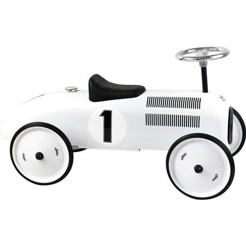 Vilac Porteur voiture vintage blanc polaire - Trotteurs