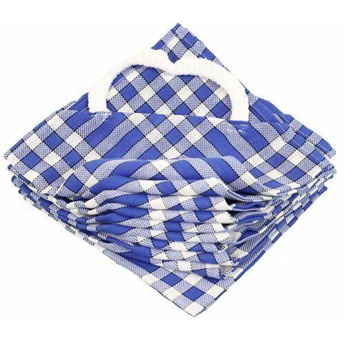 LINANDELLE Lot de 10 bavoirs enfant coton carreaux vichy Normand CLEAN KID Bleu - Bavoirs