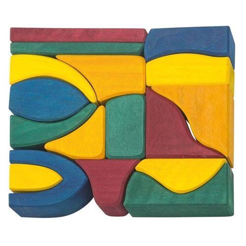 Non communiqué Glückskäfer cubes en bois 26 cm multicolores 17 pièces - Autres jeux de construction