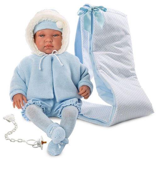 Llorens – Bebo Bonhomme avec Porte-bébé (84421) - Accessoire poupée