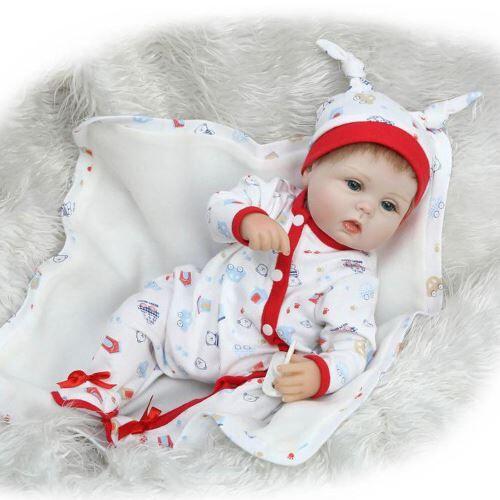 Lifelike Baby Doll Reborn Doll Nouveau-Né enfants Fille Playmate Cadeau D'Anniversaire Multicolor RA291 - Jouets à manipuler