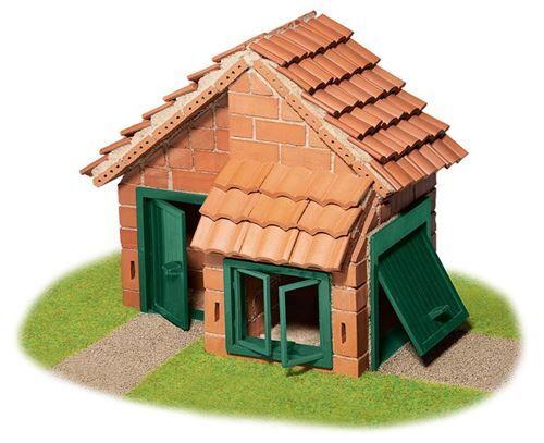 Teifoc maison en kit avec toit en tuiles de pierre marron 200 pièces - Autres jeux de construction