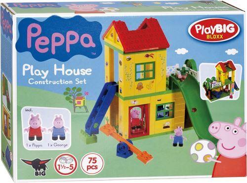 BIG L aire de jeux de peppa pig avec la figurine peppa et georges - coffret de 75 pieces - jeu de construction - Autres jeux de construction