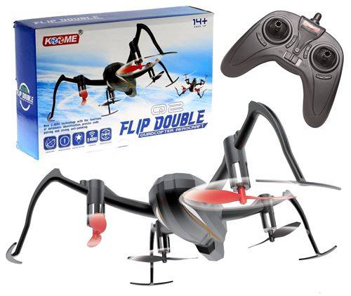 drone radiocommande kr500 camera 4 helices recto verso 360 2.4 ghz - voiture