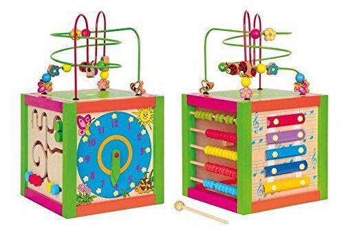 Woodyland 21 x 36 cm didactique Toys Multiactivity Consacrées à Cube Labyrinthe - Jeux d'éveil