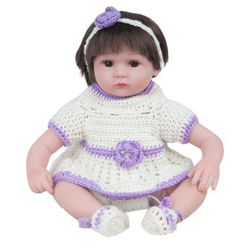 Reborn Doll 45Cm Nouveau-Né Enfants Fille Playmate Cadeau D'Anniversaire MK1994 - Poupée