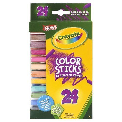 crayola crayons de couleur, bâtonnets de 24 ct, 24 couleurs variées (68-2324) - crayon de couleur et feutres