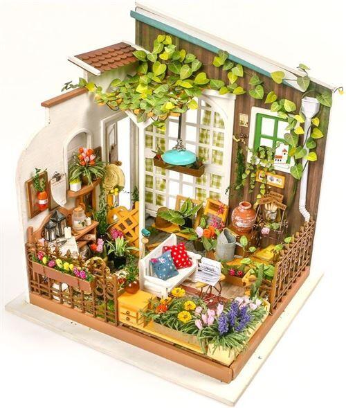 Non communiqué Robotime La maison de poupée d'horticulture des meuniers avec lumière LED - Autres jeux de construction