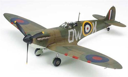 Tamiya Maquette Avion : Spitfire Mk.I aille Unique Coloris Unique - Maquette