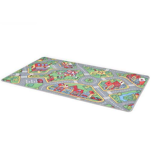 vidaXL Tapis de jeu Poil à boucle 190 x 290 cm Motif de route de ville - Tapis d'éveil