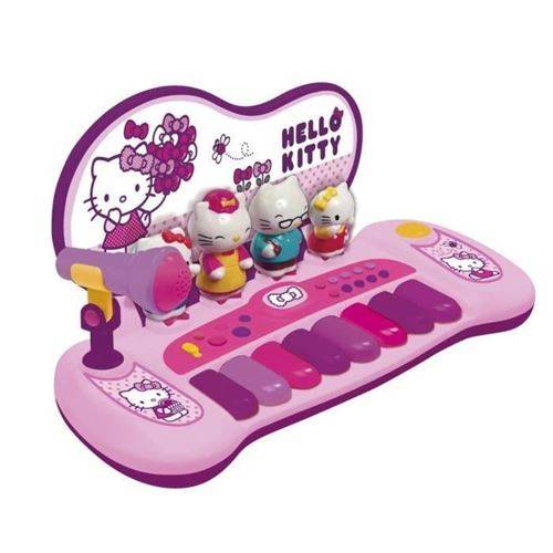 Reig HELLO KITTY Piano avec 8 touches, 8 démos chansons, 3 rythmes, 3 instruments - Instruments de musiques