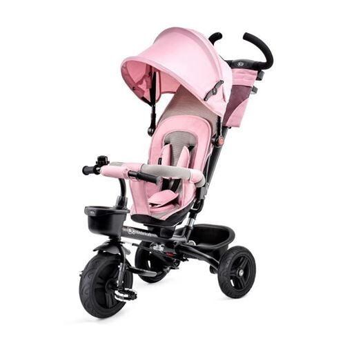 Kinderkraft Tricycle Aveo Rose - 3 Roues - Evolutif - Pliable - Tricycles