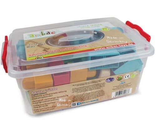 Anbac Toys blocs de construction bois antibactérien 40 pièces - Cubes