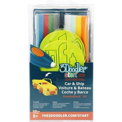 3doodler 3 doodler - 62126 - doodleblock kit - véhicule pour stylo 3d - kit créatif
