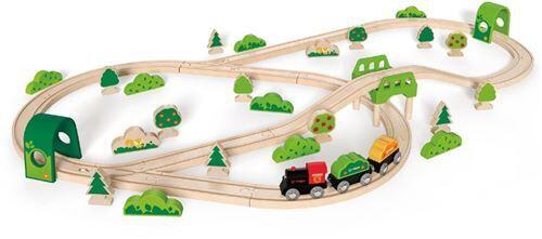 Hape ensemble de train en bois Bosroute 54-part - Train électrique