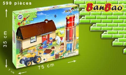 MGM Ferme bambao en briques avec silo et tracteur - Autres jeux de construction