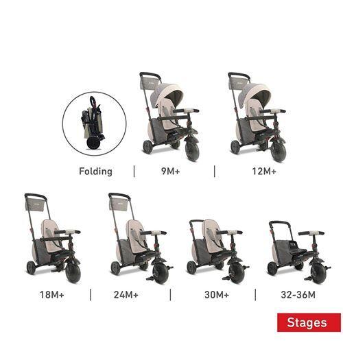 Smartrike 5100100 Smartfold 600 Trike Pliant 7 en 1 gris - Tricycles
