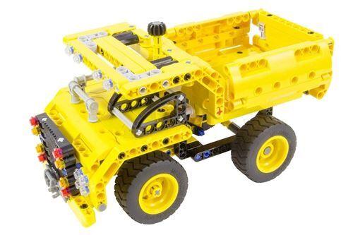 teknotoys - 85000051 - jeux de construction active bricks 2 en 1 - camion benne & avion - autres jeux de construction