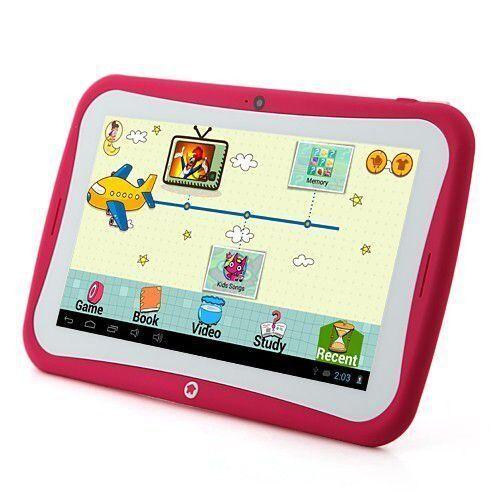 yonis tablette tactile enfant jouet éducatif 7' android jelly bean yokid rose 8 go - yonis - tablettes éducatives
