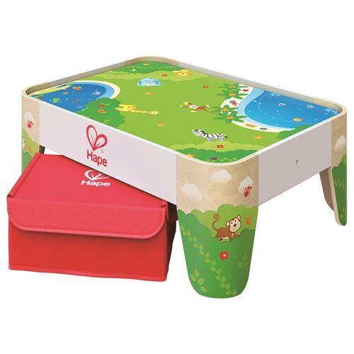 Hape Table de jeux en bois Hape - Circuit et accessoires train en bois