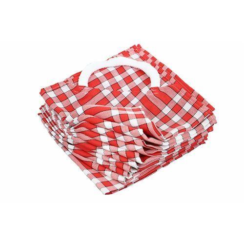 LINANDELLE Lot de 10 bavoirs enfant coton carreaux vichy Normand CLEAN KID Rouge - Bavoirs