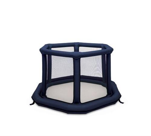 Everearth Playbox gonflable bleu hexagone 140 cm - Tapis enfant