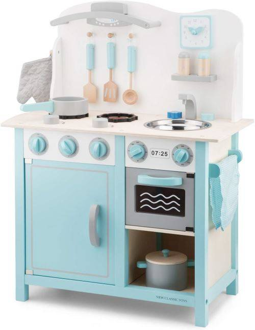 Non communiqué New Classic Toys - 11063 - Jeu D'imitation - Cuisine - Bon Appetit - DeLuxe - Bleu - Ménage nettoyage